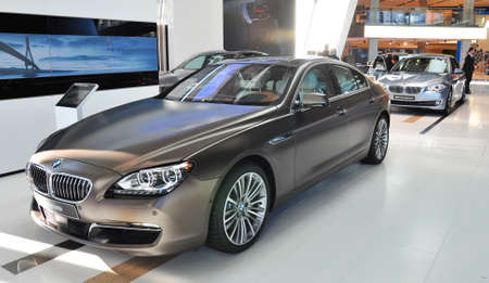 MUNICH, DECEMBER 11: new BMW 640i Gran Coupe at BMW Car Show on December 11, 2012 in Munich, Germany