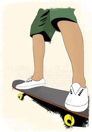Grunge skate boarding background Stock Vector - 16970166