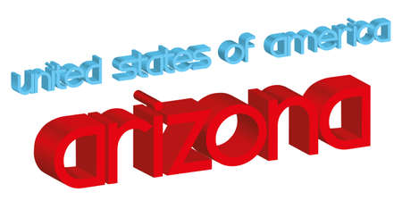 3d word ARIZONA  usa  isolated on white Stock Vector - 17166440