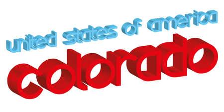 colorado: 3d word COLORADO  usa  isolated on white