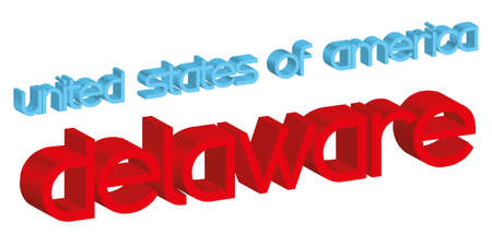 3d word DELAWARE  usa  isolated on white
