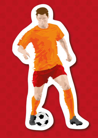 abstract soccer   football player background Vector