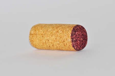 cork on white background photo