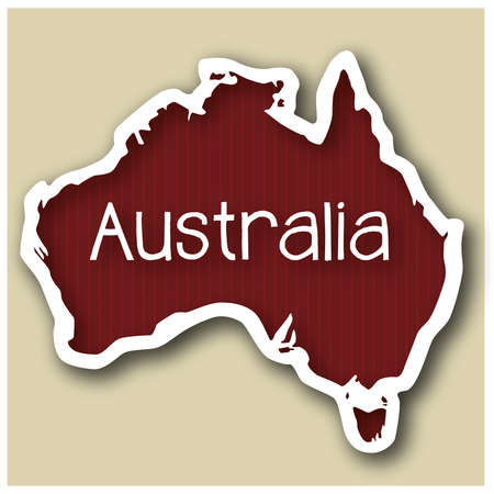 abstact map of Australia in form of a sticker Stock Vector - 17375494