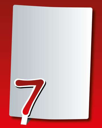 paper number - seven Stock Vector - 17499788