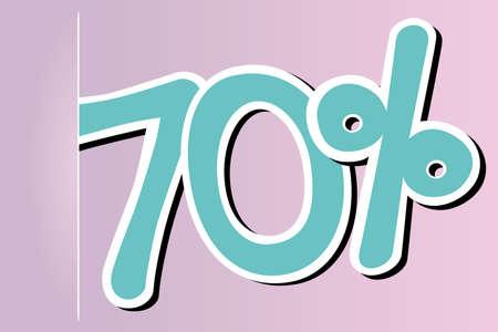 seventy: icona settanta per cento Vettoriali