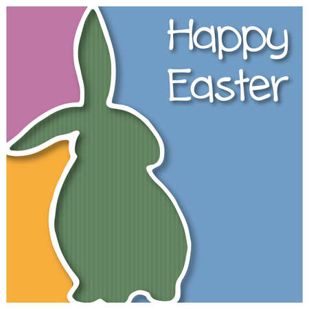 Happy Easter card with Easter Bunny Vector