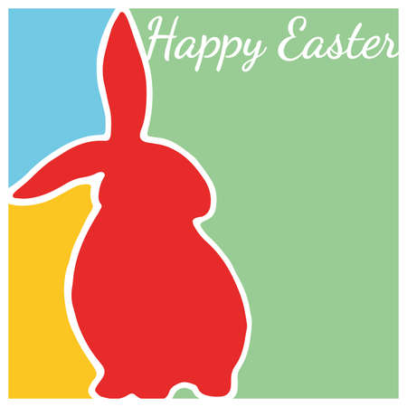 rabbit ears: Happy Easter card with Easter Bunny
