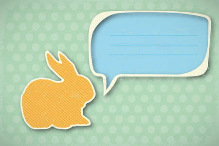 vintage Happy Easter card Vector