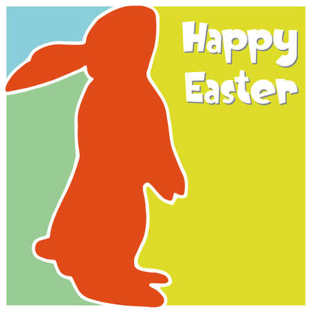 abstract Easter Card with Easter bunny Vector