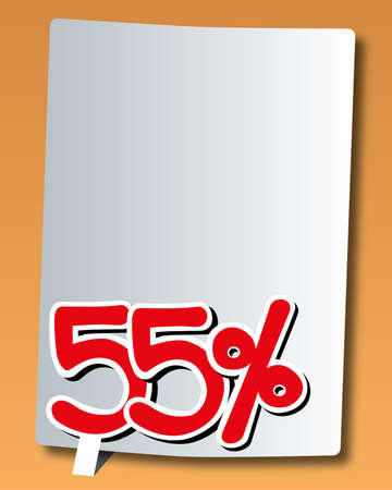 paper with fifty-five percent icon Stock Vector - 17740713