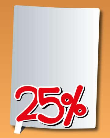 20: paper with twenty-five percent icon