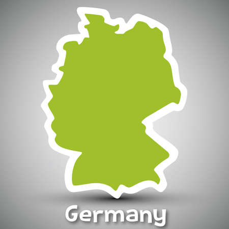 abstract icon map of Germany Stock Vector - 17884853