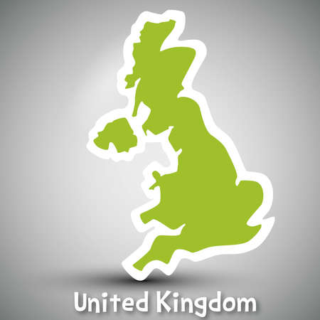 abstract icon map of United Kingdom Illustration