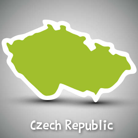 mapa: Czech Republic map sticker Illustration