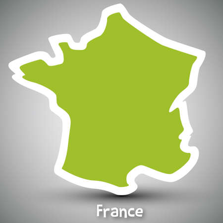 european maps: France map sticker
