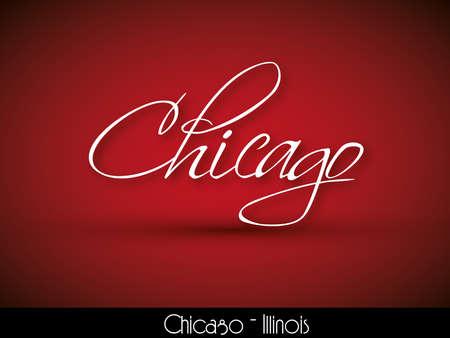 chicago: Chicago - handwritten background