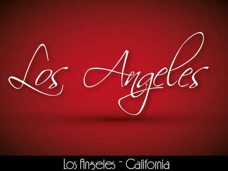 catchword: Los Angeles - handwritten background