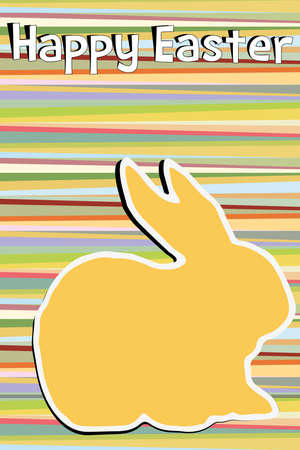 easter background in 70s style Vector