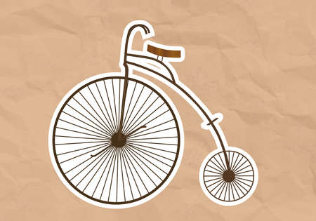 velocipede: illustration of a Velocipede  High Wheel Bicycle