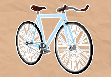 fixed: fixed gear bicycle Illustration