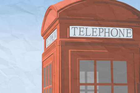 Red london telephone booth Stock Vector - 18242293