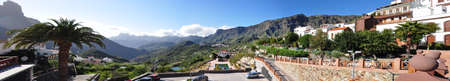 canaria: Tejeda village and the mountains of Gran Canaria, Canary Islands, Spain Stock Photo