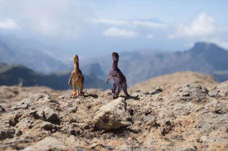 dinosaur in landscape  photo