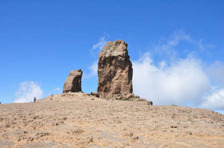 View of Roque Nublo, Gran Canaria in the Canary Islands  photo