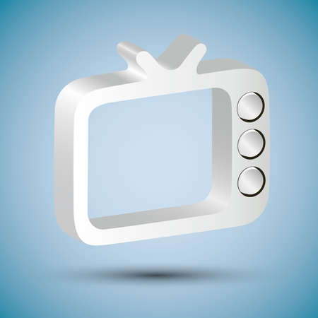 shiny tv icon Stock Vector - 19098140