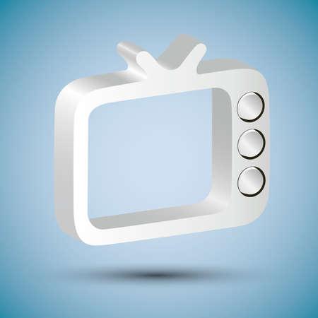 shiny tv icon Stock Vector - 19098140