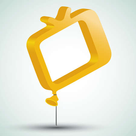 tv icon in form of a balloon Stock Vector - 19098141