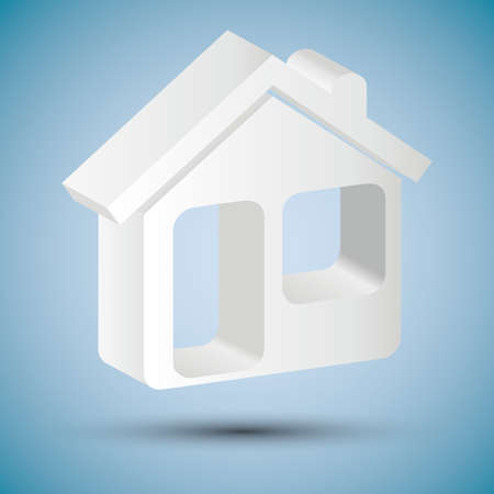 home security system: shiny house icon