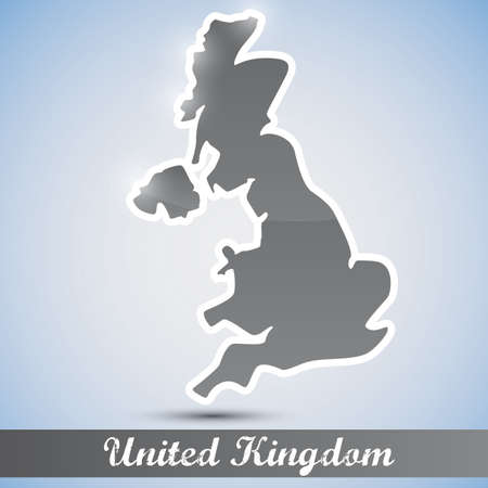 shiny icon in form of Great Britain Vector