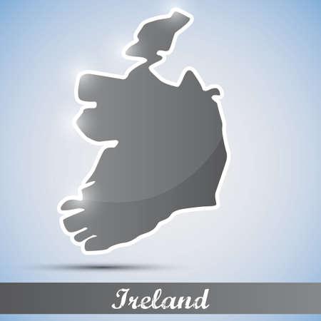 shiny icon in form of Ireland Vector