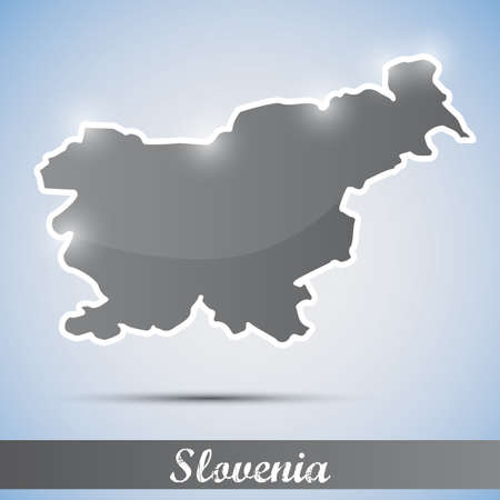 shiny icon in form of Slovenia Vector