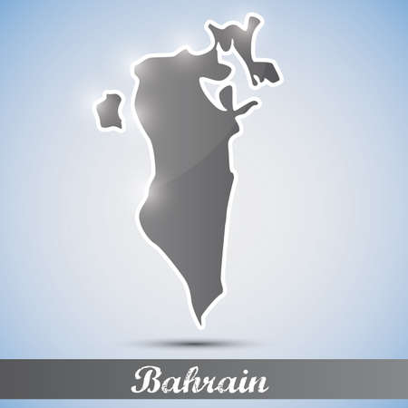 bahrain: shiny icon in form of Bahrain Illustration
