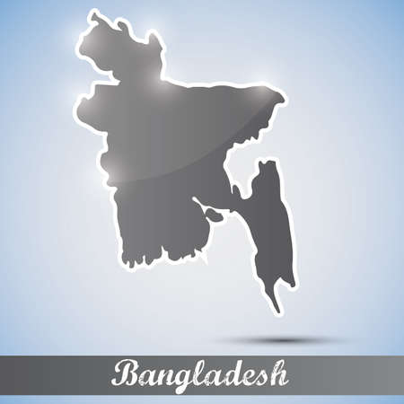bangladesh: shiny icon in form of Bangladesh
