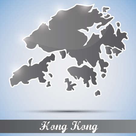shiny icon in form of Hong Kong Vector