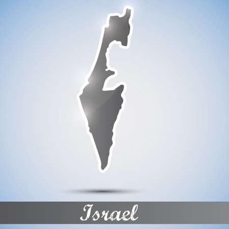 palestine: shiny icon in form of Israel Illustration
