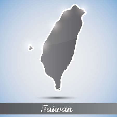 taiwanese: shiny icon in form of Taiwan Illustration