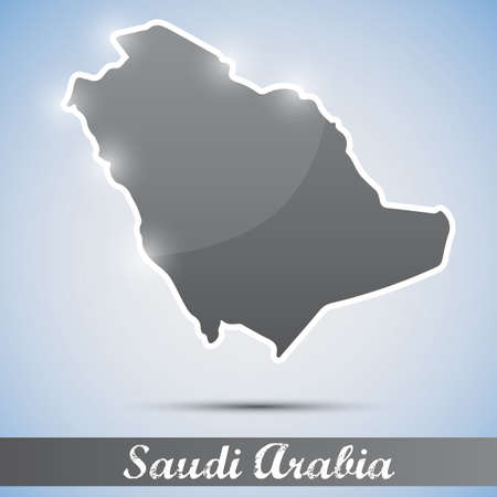 arabia: shiny icon in form of Saudi Arabia