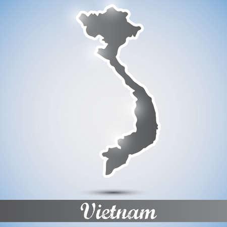 vietnam war: shiny icon in form of Vietnam Illustration
