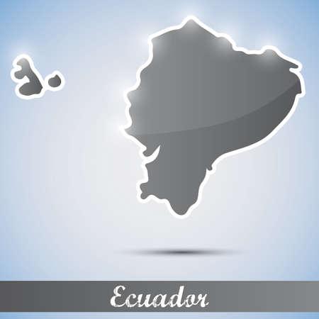 ecuador: shiny icon in form of Ecuador