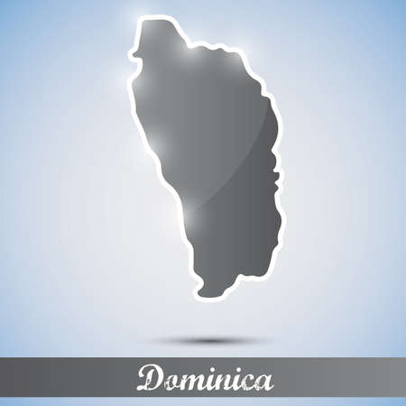 dominica: shiny icon in form of Dominica
