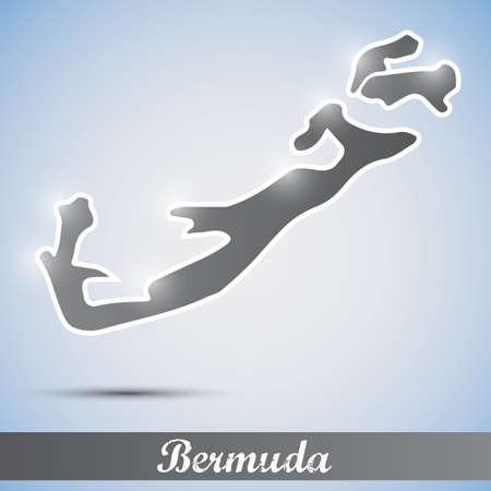 bermuda: shiny icon in form of Bermuda