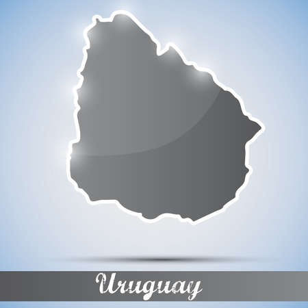 uruguay: shiny icon in form of Uruguay