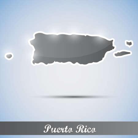 shiny icon in form of Puerto Rico Vector