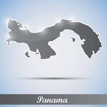 panama: shiny icon in form of Panama Illustration