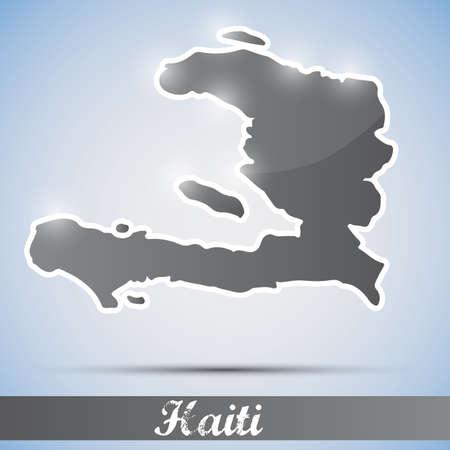 haiti: shiny icon in form of Haiti Illustration